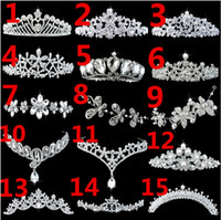 Wholesale New Wedding Bridal Jewelry Diamond Crown Pageant Tiara Headband style Headdress Hair Accessories