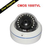 Wholesale Vandal Proof High Definition TVL Resolution quot CMOS Sensor Mini Aluminum Dome Camera camara de seguridad vigilancia de video