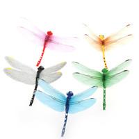 Wholesale 5pcs cm D Artificial Dragonflies Luminous Fridge Magnet for Home Christmas Wedding Decoration H9938