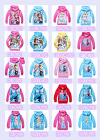 Unisex Spring / Autumn Hooded 20 styles cotton Frozen Baby Girls Elsa Anna Princess Olaf Hoodie Long Sleeve Terry Hooded Jumper Cartoon Hoodies Outerwear Kids Clothing