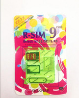 Wholesale R SIM R SIM9 Pro Perfect SIM Unlock Sim Official IOS ios RSIM for iphone S S C GSM CDMA WCDMA g g free dropshipping