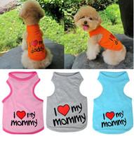 Wholesale Pet Dog Clothes Puppy Cat Apparel Vest Coat T shirt Size S XXL FS01005