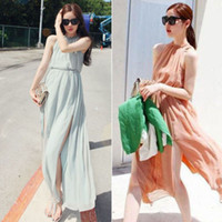 Cheap Casual Dresses Chiffon Dress Best Halter Ankle Length Evening Party Dress