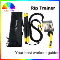 Wholesale Rip Trainer Resistance bands full workout fitness bands with dvd guide train your body in D