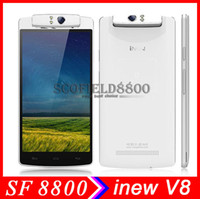 Wholesale inew V8 quot MTK6591T Hexa Core Android Cell Phone Smartphone IPS HD GB RAM GB ROM MP Rotating Camera Android kitkat OTG NFC