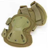Wholesale 4pcs se Airsoft military war game outdoor gear safety tactical protective gear safety knee and elbow pads set CS Outdoor