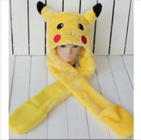 Beanie/Skull Cap 0940 character 2014 new arrival top fasion character adult casual cute pokemon hat with gloves pikachu plush anime cosplay cap long earflap