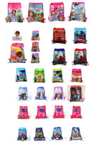 Wholesale Free drawstring bag Frozen peppa pig sofia DOC mcstuffin Despicable Me Avengers kids backpacks handbags