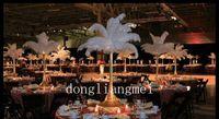 Wholesale EMS pc inch Ostrich Feather Plume white Wedding party centerpieces table centerpiece decoration Z134