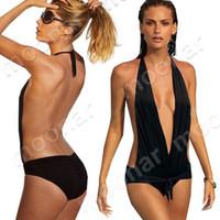 Women Bikinis Dot Wholesale-407-Hot Women's Naked Back V Bikini Swimwear Swimsuit Beachwear NY002