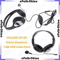 Wholesale OVLENG OV Q2 USB Stereo Headphone Headset With MIC For Gaming Console Surround Sound PC Earphone