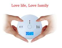 Wholesale CO Carbon Monoxide Detector Alarm System For Home Security Poisoning Smoke Gas Sensor Warning Alarms Tester Sensor LED Free DHL Factory