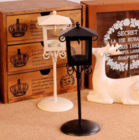 Wholesale 2014 Fashion Street Lamp Wedding Gift Wedding Lantern Metal Candle Holder House Decoration White Color Fedex