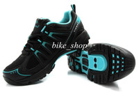 Wholesale 2014 Stylish Black Blue TieBao Men Road Cycling Shoes Pretty Breathable Cycling Shoes Strong Supportive Fashionable Couple Bicycle Footwear