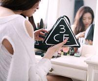 black Plastic Bag Hot sale Korean STYLENANDA 3CE high quality fashion simple black makeup cosmetic beauty porrable bag case LJJB2 200 pcs
