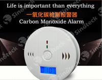 Wholesale CO Carbon Monoxide Detector Alarm System For Home Security Poisoning Smoke Gas Sensor Warning Alarms Tester Sensor LED Free DHL