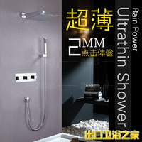 Wholesale Bathroom Shower Sets Dark copper project into the wall against the wall chrome colored villa hotel Quartet shower faucet hot and cold Pack