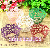 FDA cupcake wrappers - 100pcs Butterfly Cupcake Wrappers Laser Cut Paper Muffin Cake Wrapper Wedding Birthday Baby Shower Party Decorations