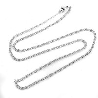 Chains Necklaces Fashion 2013 Fashion Cheap Womens Mens Costume Metal Jewelry 60cm Silver Stainless Steel Lobster Clasp Link Chain Necklace Wholesale
