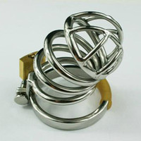 304 Food-Grade Stainless steel YUNPING 100% real stainless steel Brand New High Quality Small stainless steel chastity device cage A080 Male metal Chastity belt 5 ring selection BDSM Sex Toys Fast shipping
