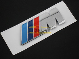 Wholesale 50x ABS M CAR BADGE Emblem TECH BADGE M POWER SPORT HOOD BOOT REAR D STICKER BLUE DARK BLUE RED