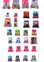 Wholesale Free drawstring bag Frozen peppa pig sofia DOC mcstuffin Despicable Me Avengers kids shopping bags