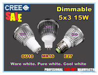 Spotlight led e27 - SALE Retail high quality CREE W W W Dimmable GU10 MR16 E27 E14 B22 Led Light LED Lamp Spotlight LED bulb lights lighting