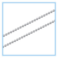 Chains Necklaces Fashion (50pcs lot) 2mm Fashion Jewelry 45 50 55 60cm Womens Mens Silver Stainless Steel Bead Ball Necklace Chain Wholesale Lots