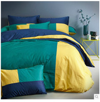 100% Cotton Woven Home 3D Pink yellow green blue red white solid bedding comforter set king queen size bedspread duvet cover bed in a bag sheet brand 100% cotton