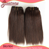 5A Cheap Malaysian Human Hair Extensions Silky Straight #1 #...
