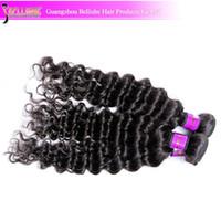 Brazilian Hair Deep Wave Under $100 Brazilian Peruvian Malaysian Indian Mongolian virgin kinky curly hair unprocessed human hair extension LD1808