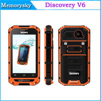 WCDMA waterproof cell phone - Original Discovery V6 inch Android MTK6572 Dual Core Smart Waterproof Shockproof Cell Phone Ram MB Rom GB Rugged IP68