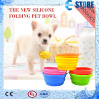 Wholesale Fashion Dog Cat Pet Portable Silicone Collapsible Dish Travel Feeding Bowl Water Dish Feeder wu