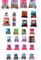 Wholesale Free drawstring bag Frozen peppa pig sofia DOC mcstuffin Spiderman Despicable Me Avengers kids shopping bags