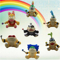 Wholesale 7pcs set Super Mario Bros Plush Doll Stuffed Toy Wendy LARRY IGGY Ludwig Roy Morton Lemmy O Koopa quot