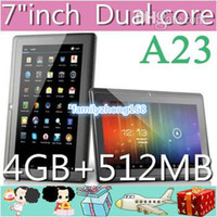 Wholesale DHL A23 Cheap Q88 quot PRO Dual Core Epad Tablet PC Android MB GB NEW