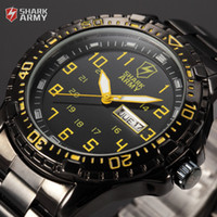 Sport aries dating - Shark Army ARIES Series Auto Date Display Calendar Black Yellow Outdoor Stainless Male Clock Men Full Steel Sport Watch SAW092