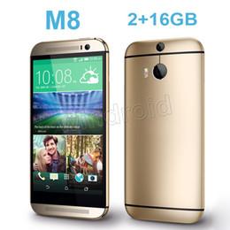 Wholesale Aluminum Alloy HDC One M8 Quad Core MTK6582 GHz GB GB Android KitKat G WCDMA Single nano Sim MP Camera Smart Phone