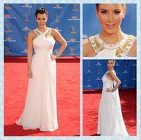Reference Images Halter Chiffon Famous Star Kim Kardashian Halter Chiffon Fashion Event Prom Dresses New Style