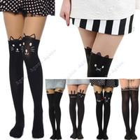 Wholesale Sexy women girls Cat Tower Tattoo Socks Sheer Pantyhose Mock Stockings Tights Leggings Types