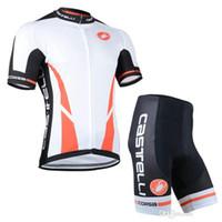 Wholesale santini cycling set outdoor sport short sleeve cycling jersey shirts and bike wear shorts