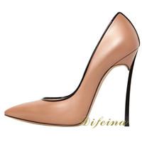 Women Pumps Spring and Fall Woman Pointed Toe Woman Shoes Night Club Brown Stiletto Heel Platform Shallow Mouth Euramerican Style Sexy Shoes Heel 12cm Dress Shoes