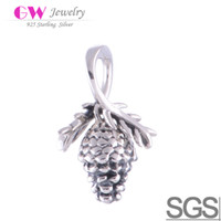 Wholesale Pine Cone Charms fit charms amp charm bracelets beads No YZ035