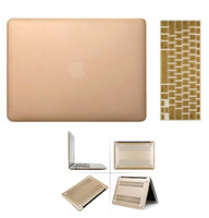 Wholesale Gold Golden Metal Coated Rubberiz Hard Case Cover Silicone Keyboard Skin For Macbook Inch Air Pro Retina