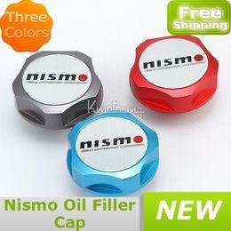 Оптовая продажа-407-Крышка автомобиля новые заготовки двигателя для Nissan Nismo заполнить JDM бак топлива в масло заливной горловины подлинная Сильвия бесплатная доставка