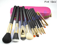 professional makeup sets - HOT NEW Makeup brushes Professional Brush Pink leather bag gift