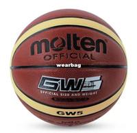 Wholesale Brand Molten GW5 Basketball Ball High Quality PU Material Official Ball Size Sports Basketball