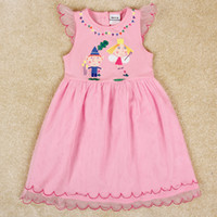 Wholesale baby girl party dress cartoon Ben and Hollys Little Kingdom tulle lace dress pink princess dress nova summer dresses kids clothes