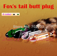 glass dildo - FOX tail glass dildo Anal Sex Toys butt plug adult backyard toys sex products for woman