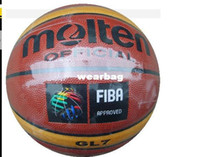 Wholesale Brand Molten GL7Basketball Ball High Quality PU Material Official Ball Size Sports Match Basketball indoor and outdoor